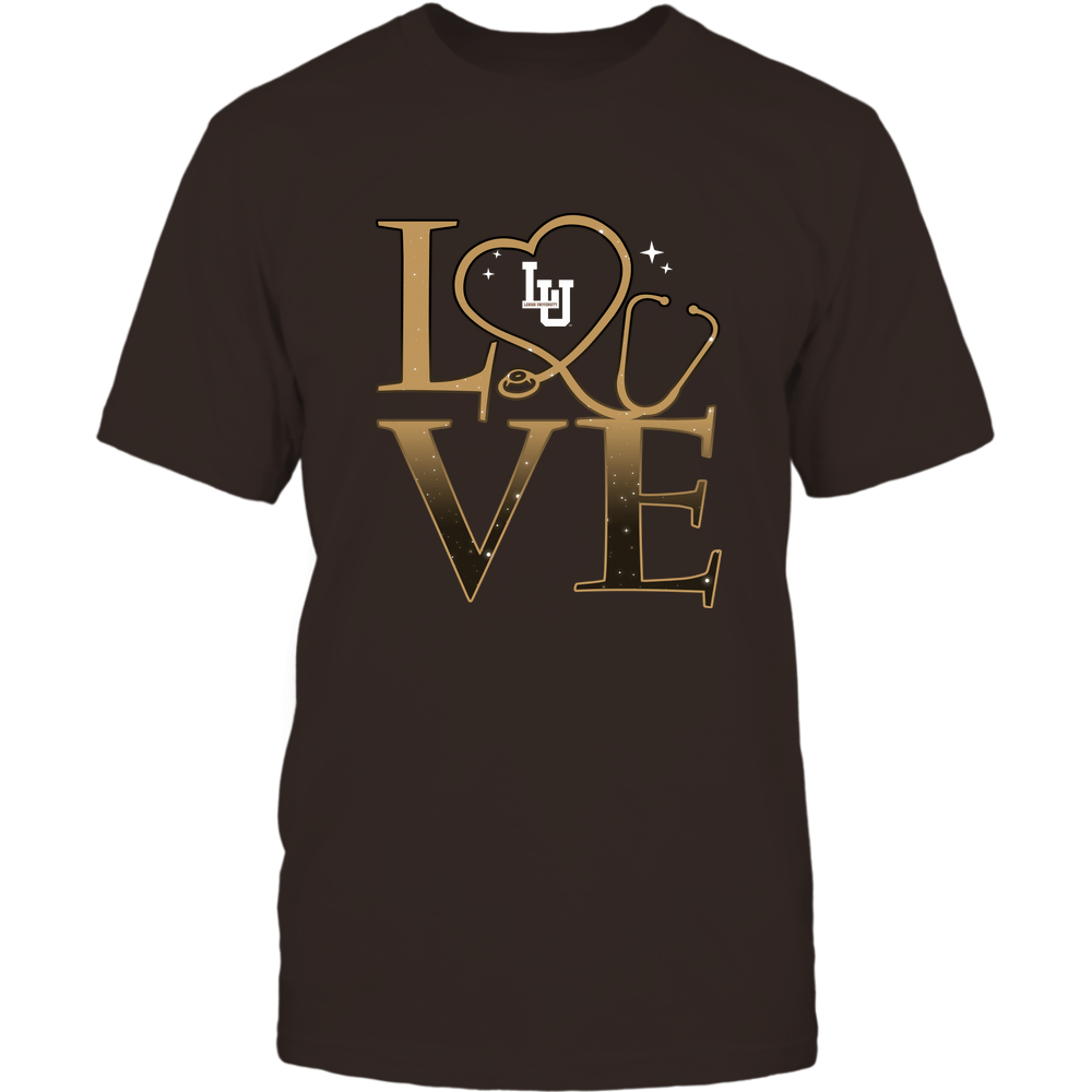 Lehigh Mountain Hawks - Stacked Love Swirly Heart - Nurse Front picture