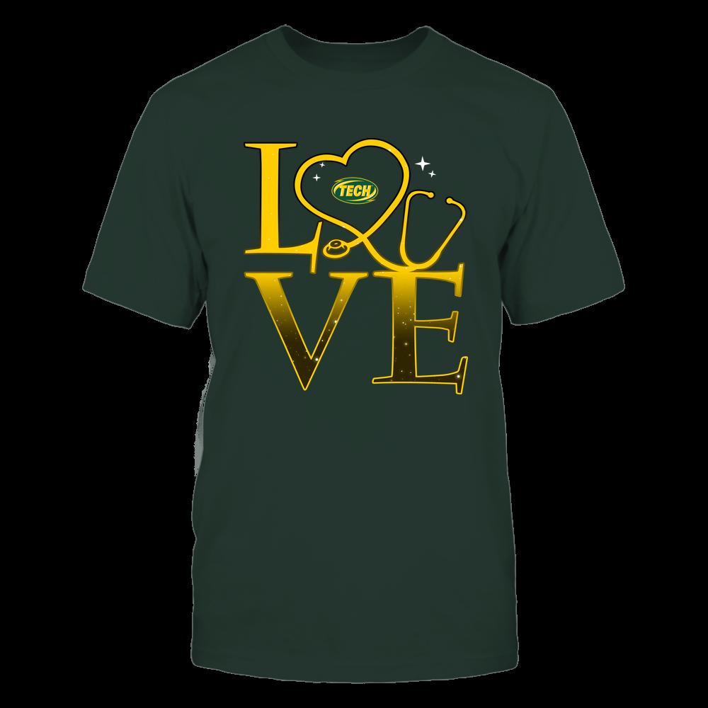 Arkansas Tech Golden Suns - Stacked Love Swirly Heart - Nurse Front picture