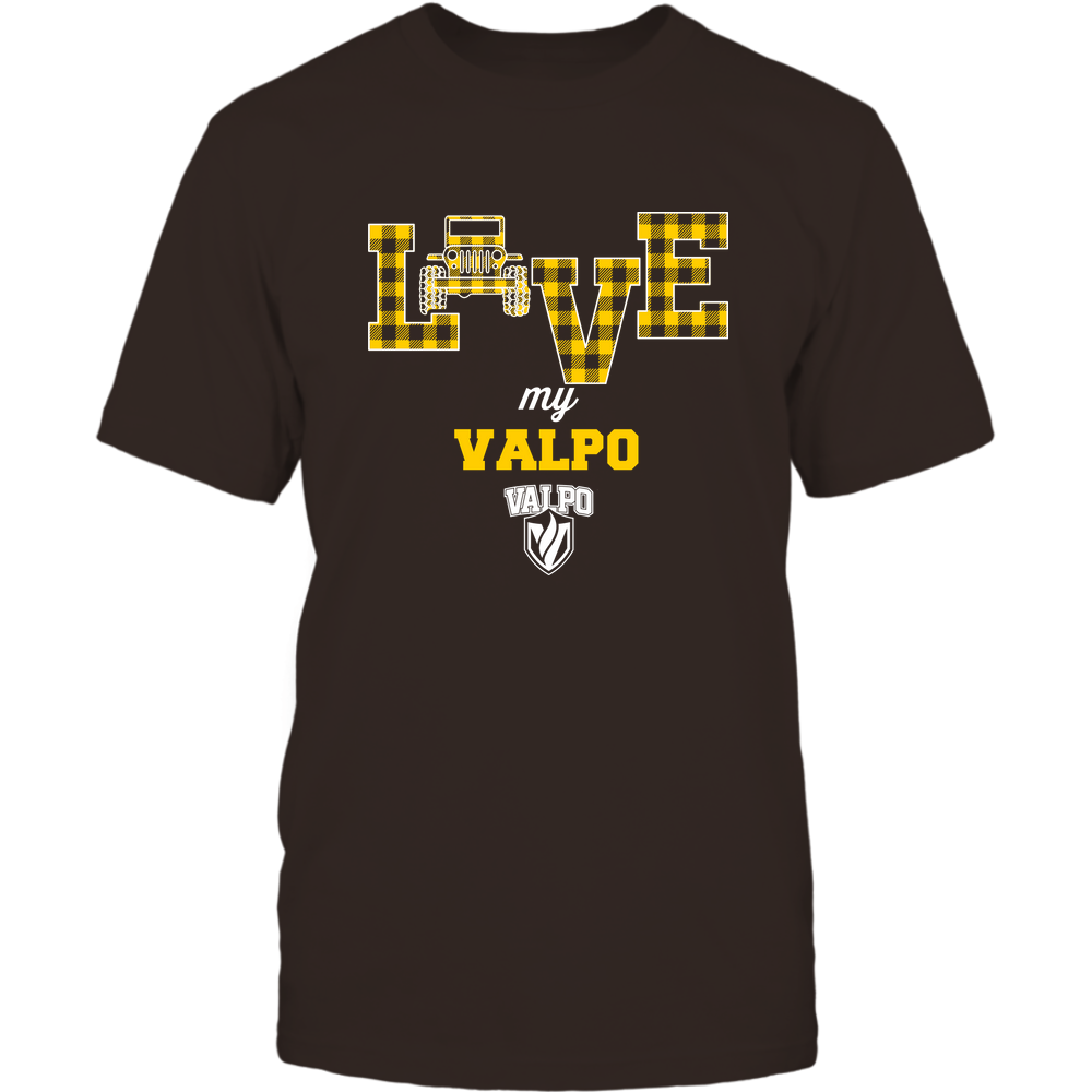 Valparaiso Crusaders - Love My Team - Jeep - Checked Pattern Front picture