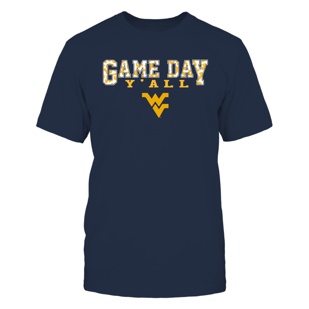 West Virginia Mountaineers - Gameday Y'all - Leopard Pattern - Team Front picture