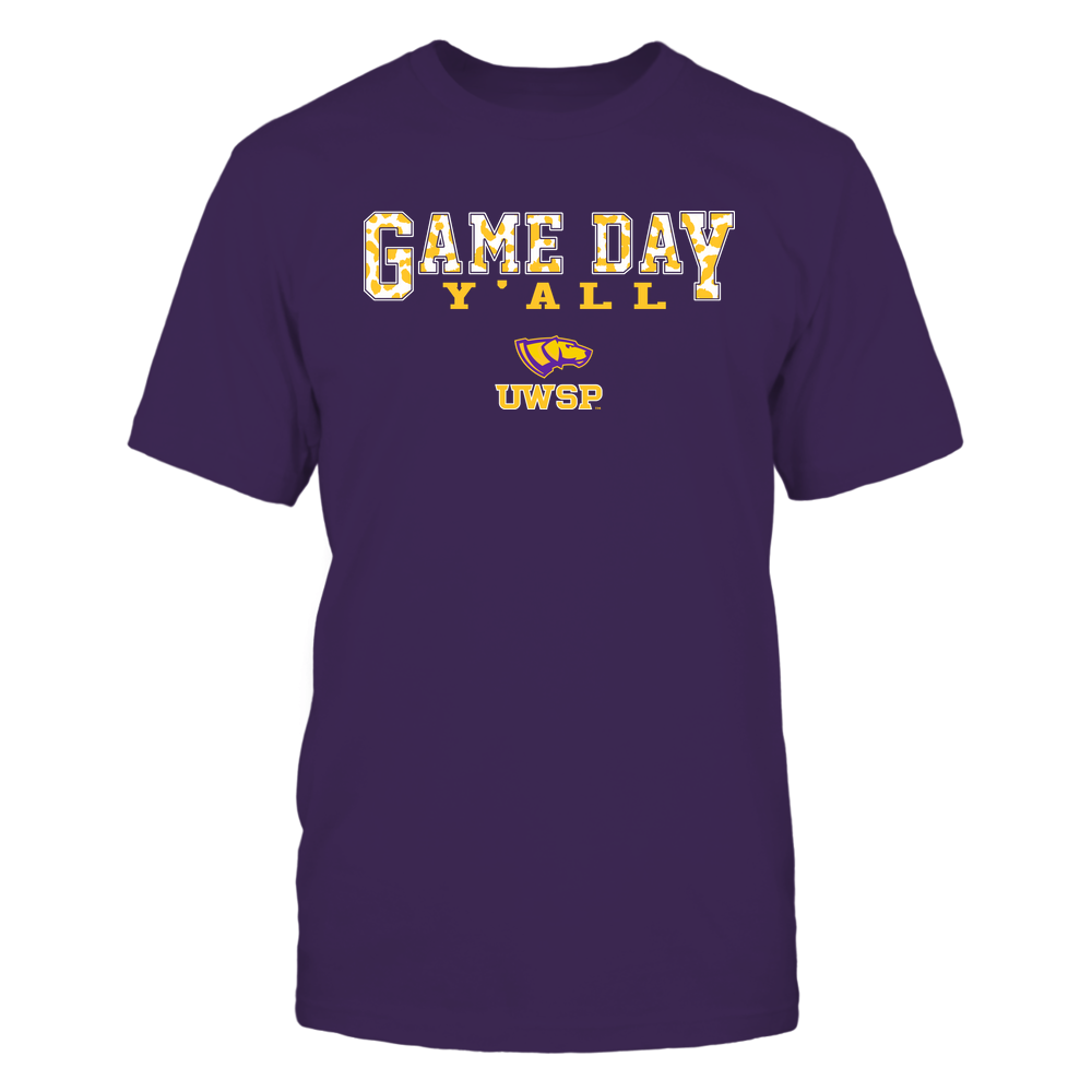 Wisconsin-Stevens Point Pointers - Gameday Y'all - Leopard Pattern - Team Front picture
