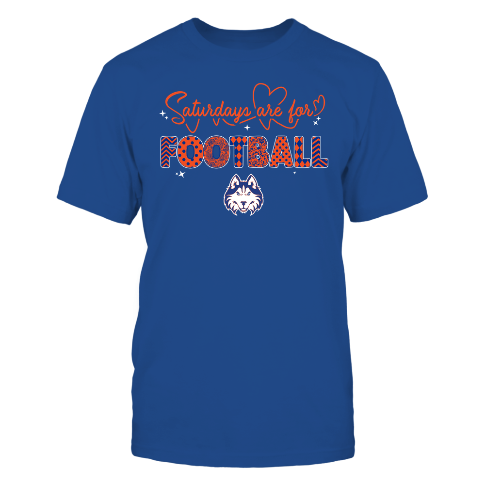 Houston Baptist Huskies - 19090910241 - APC - Saturdays Are For Football - Heart Beat Pattern - IF17-IC17-DS27 Front picture