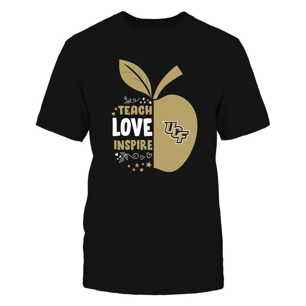 UCF Knights - Teacher - Half Apple - Teach Love Inspire - IF13-IC13-DS84 Front picture