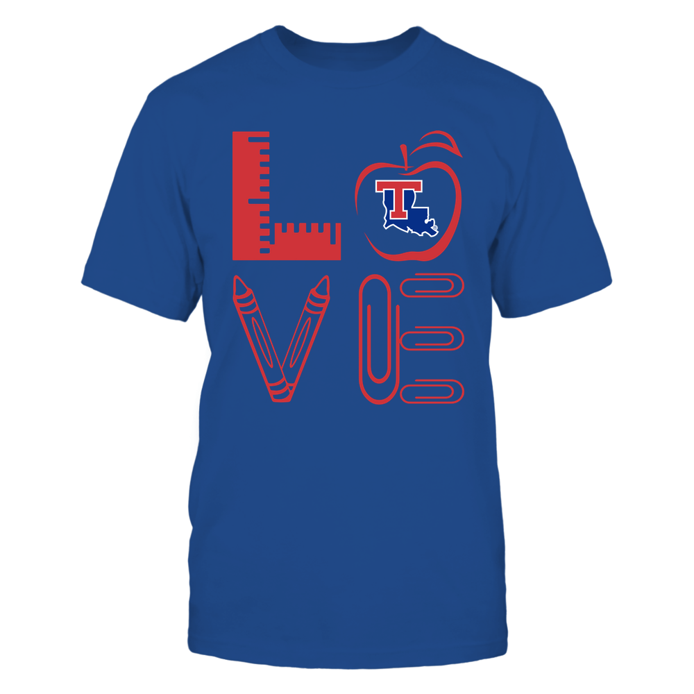 Louisiana Tech Bulldogs - 19062710884 - Stacked Love - Teacher Things - APCX - IF-IC13-DS84 Front picture