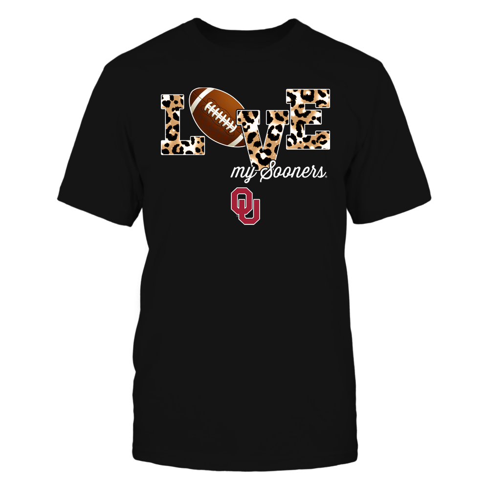 Oklahoma Sooners - Love-My-Team-Checkered-Leopard-Football-IF17-IC17-DS64 Front picture