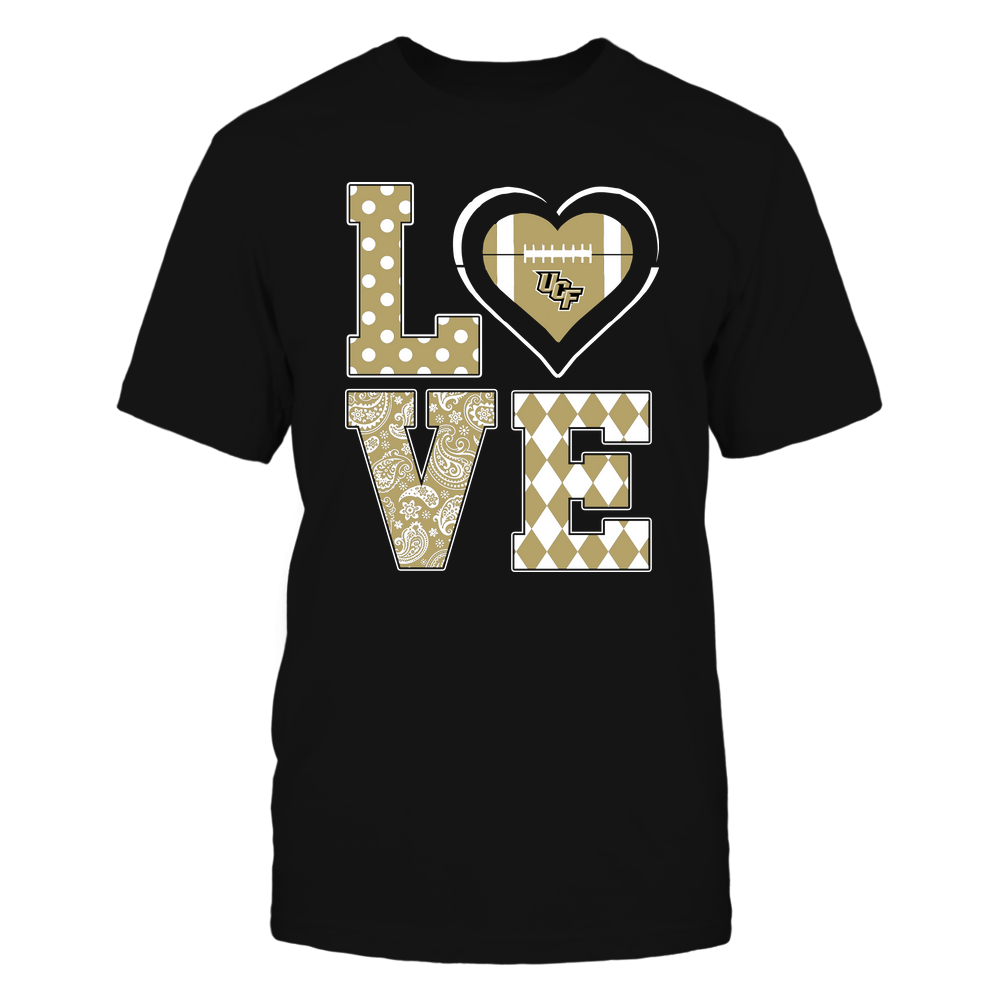 UCF Knights - Stacked Love - Football Heart - Team Front picture