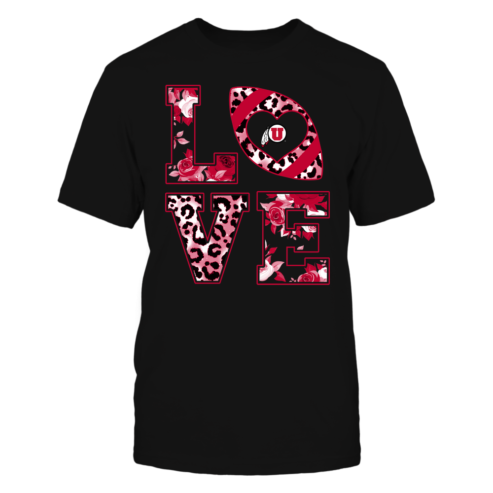 Utah Utes - Stacked Love - Leopard And Rose - Team Front picture
