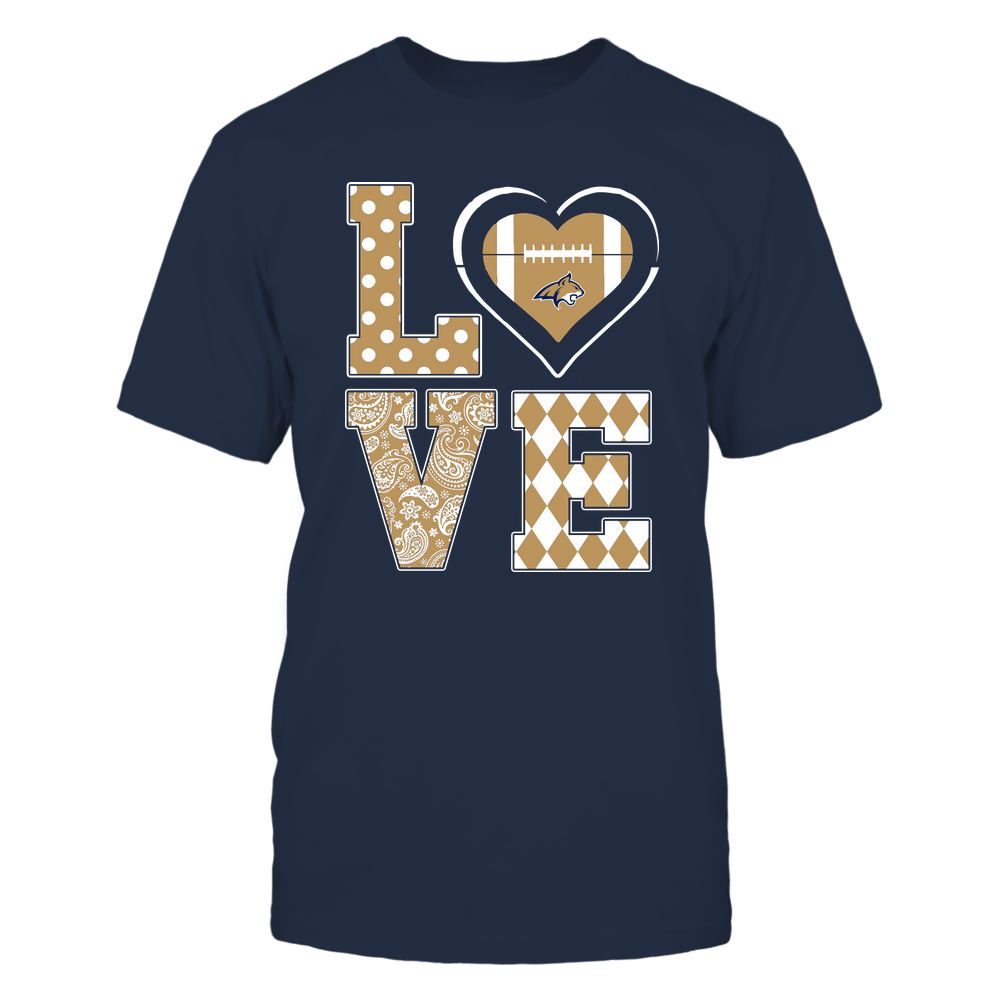 Montana State Bobcats - Stacked Love - Football Heart - Team Front picture