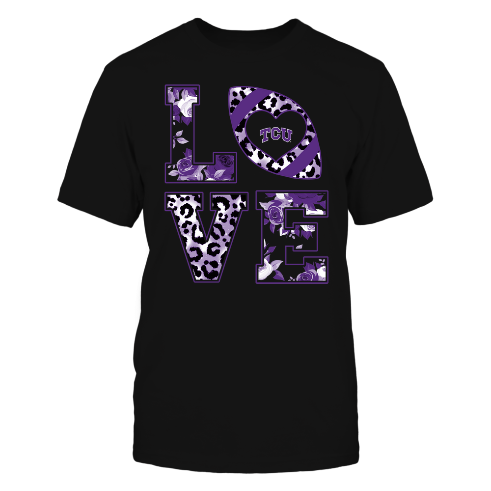 TCU Horned Frogs - Stacked Love - Leopard And Rose - Team Front picture
