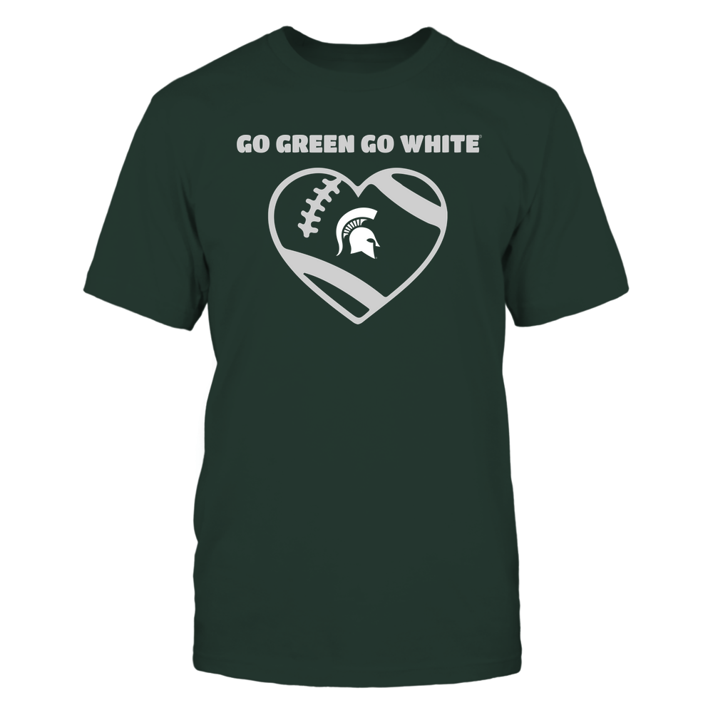 Michigan State Spartans - Football Heart - Team Front picture