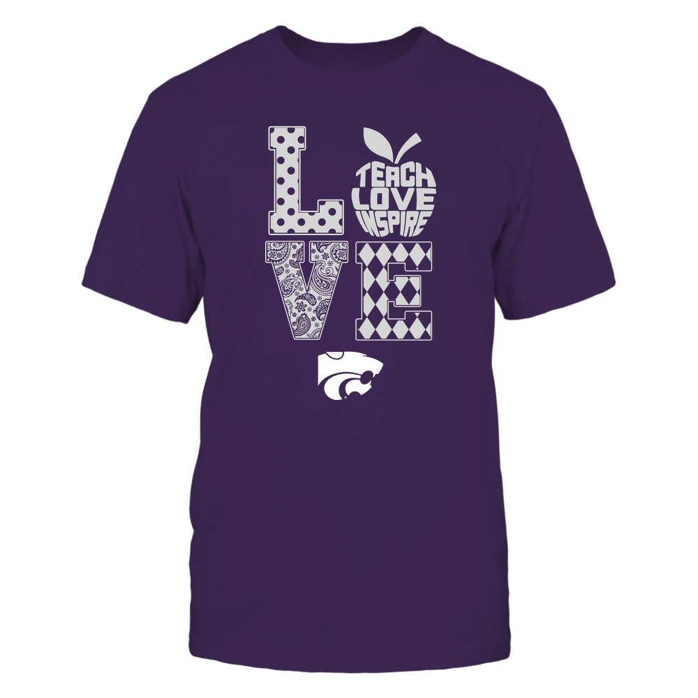 Kansas State Wildcats - Stacked Love - Teach Love Inspire Inside Apple - IF-IC13-DS85 Front picture