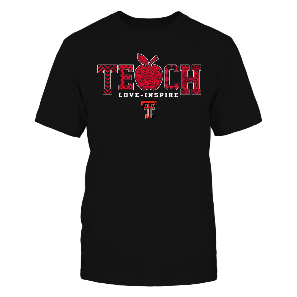 Texas Tech Red Raiders - Teach Love Inspire - Apple Pattern - Team Front picture
