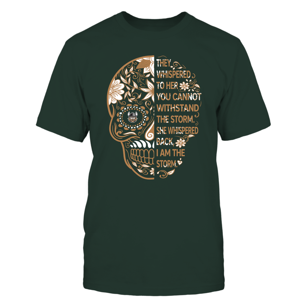 Cleveland State Vikings - 19092310107-Half Sugar Skull - I Am The Storm - APCX - IF13-IC13-DS27 Front picture