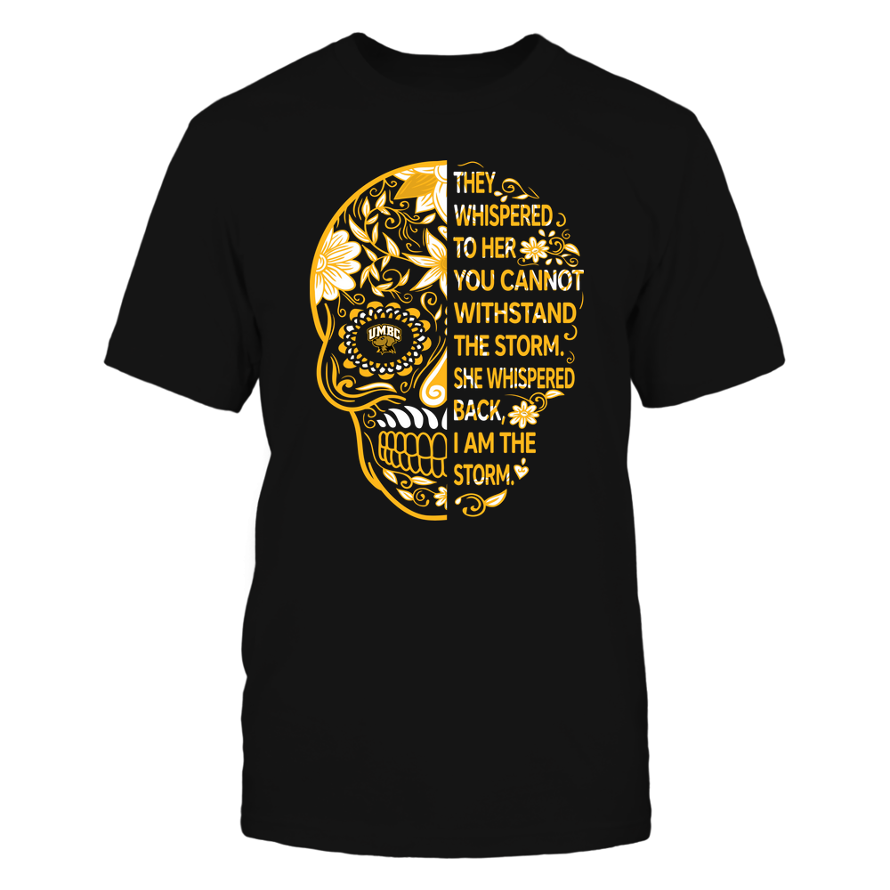 UMBC Retrievers - 19092310107-Half Sugar Skull - I Am The Storm - APCX - IF13-IC13-DS27 Front picture