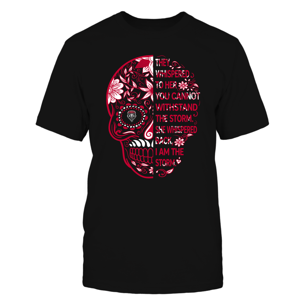New Mexico Lobos - 19092310107-Half Sugar Skull - I Am The Storm - APCX - IF-IC13-DS27 Front picture