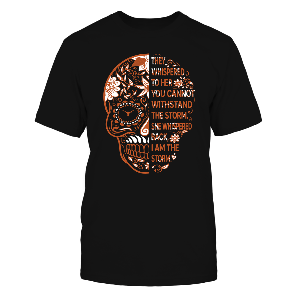 Texas Longhorns - 19092310107-Half Sugar Skull - I Am The Storm - IF-IC13-DS27 Front picture