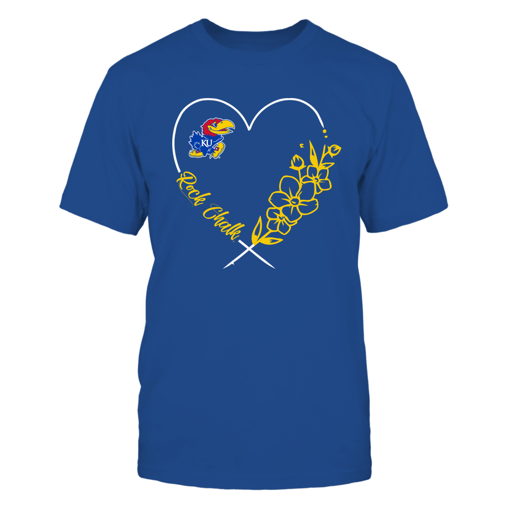Kansas Jayhawks - Heart-Flower-3-4--IF32-IC32-DS64 Front picture