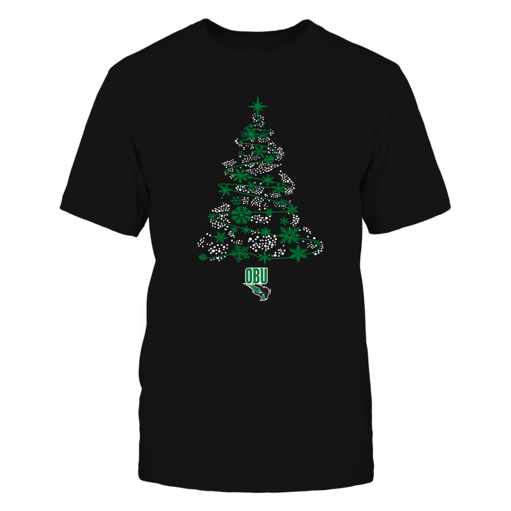 Oklahoma Baptist Bison - 19093010177 - Sparkling Christmas Tree  - IF13-IC13-DS45 - APCX Front picture