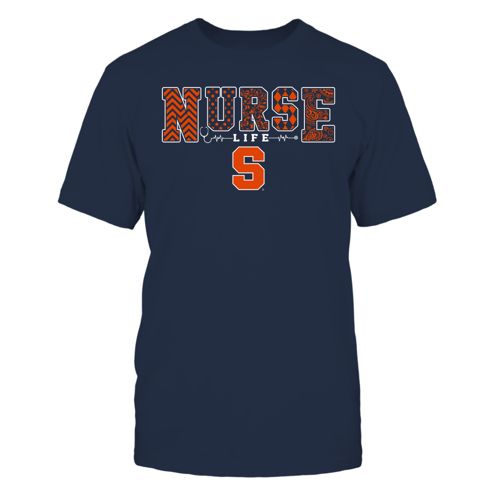 Syracuse Orange - Nurse Life - Slogan - Patterns Front picture