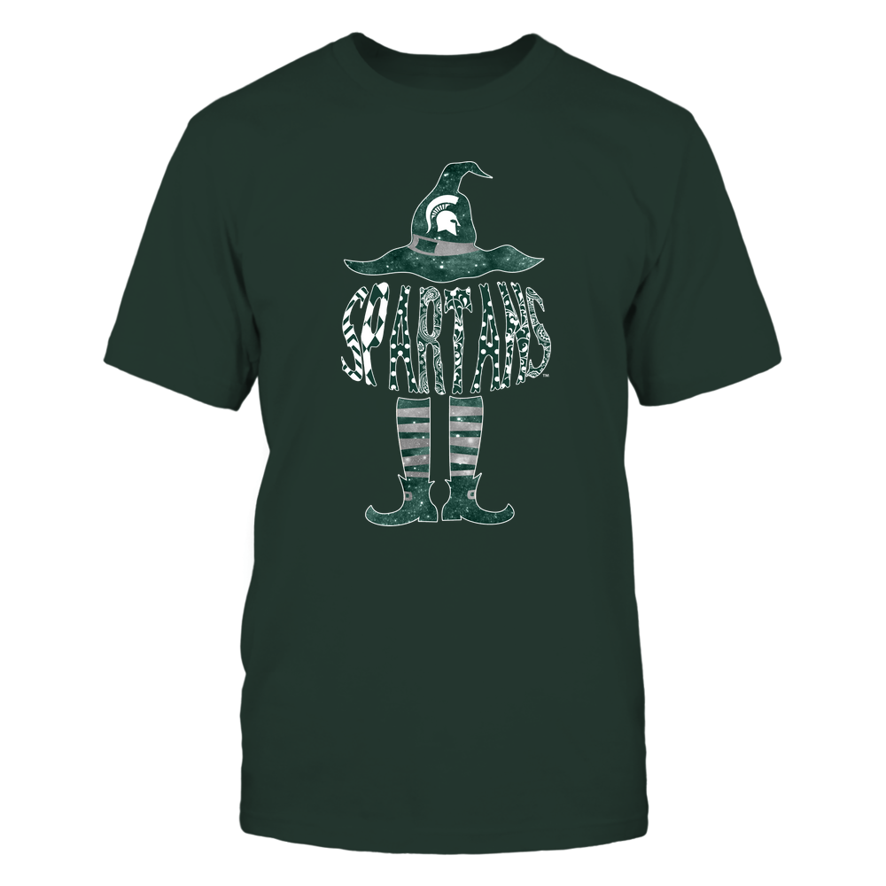 Michigan State Spartans - Halloween Witch - Pattern Letter - IF32-IC32-DS85 Front picture