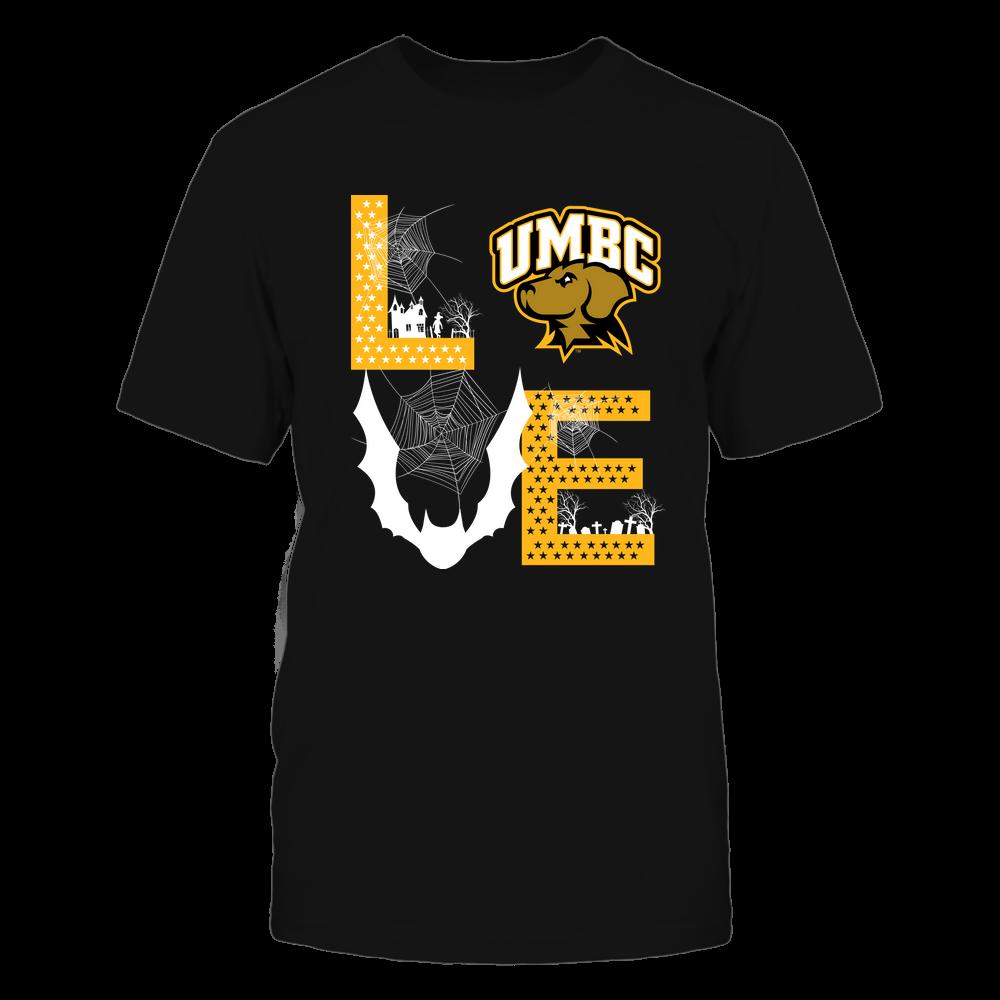 UMBC Retrievers - Stacked Love - Halloween Bat - Team Front picture