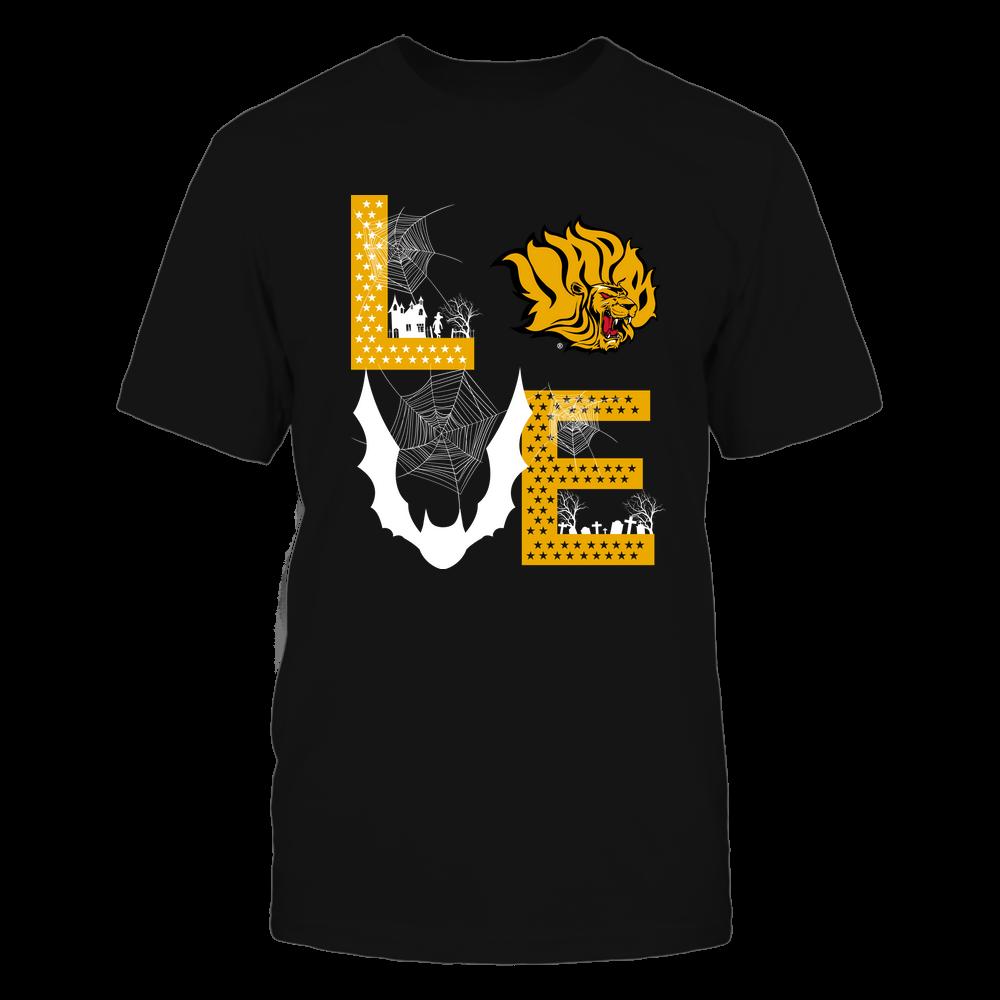 Arkansas Pine Bluff Golden Lions - Stacked Love - Halloween Bat - Team Front picture