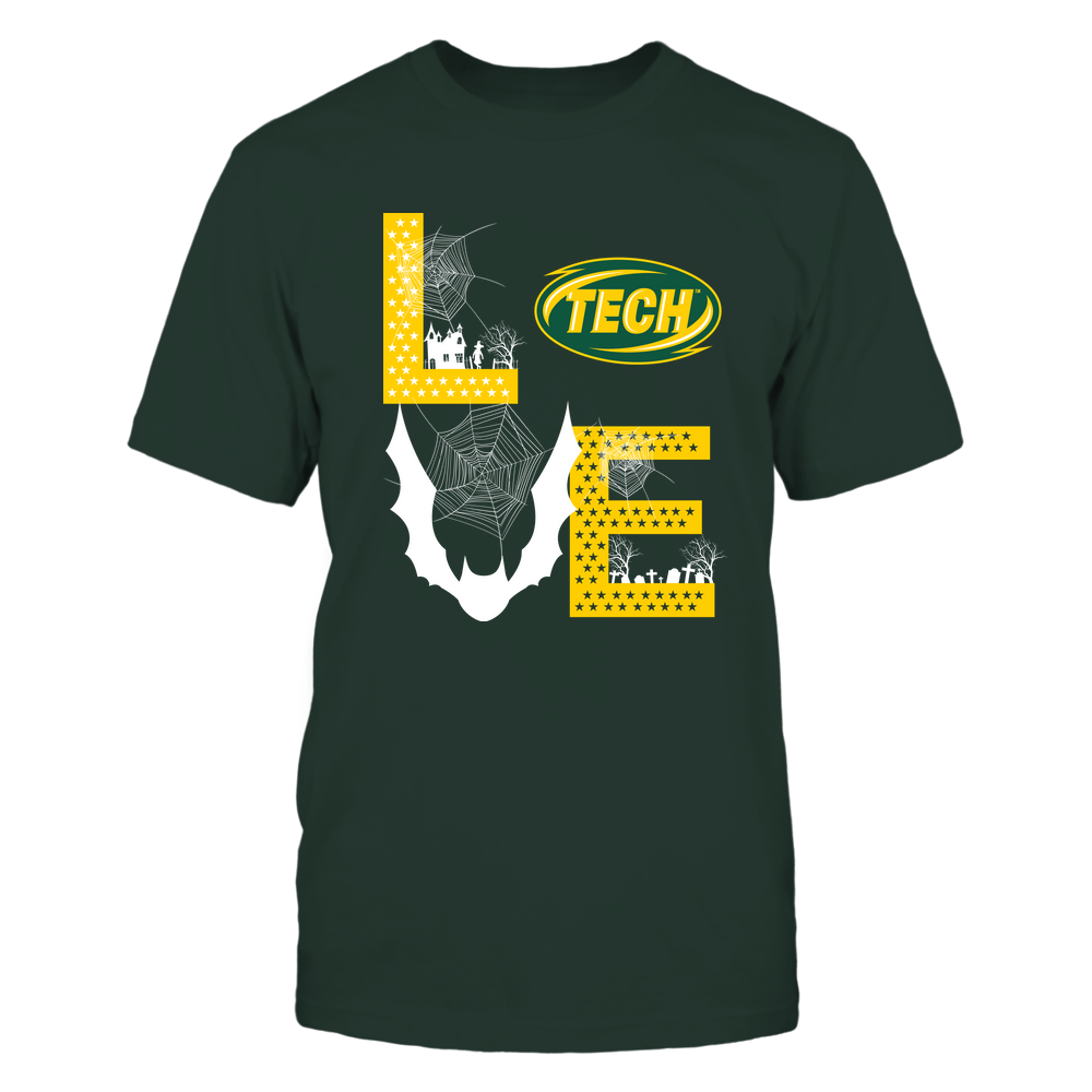 Arkansas Tech Golden Suns - Stacked Love - Halloween Bat - Team Front picture
