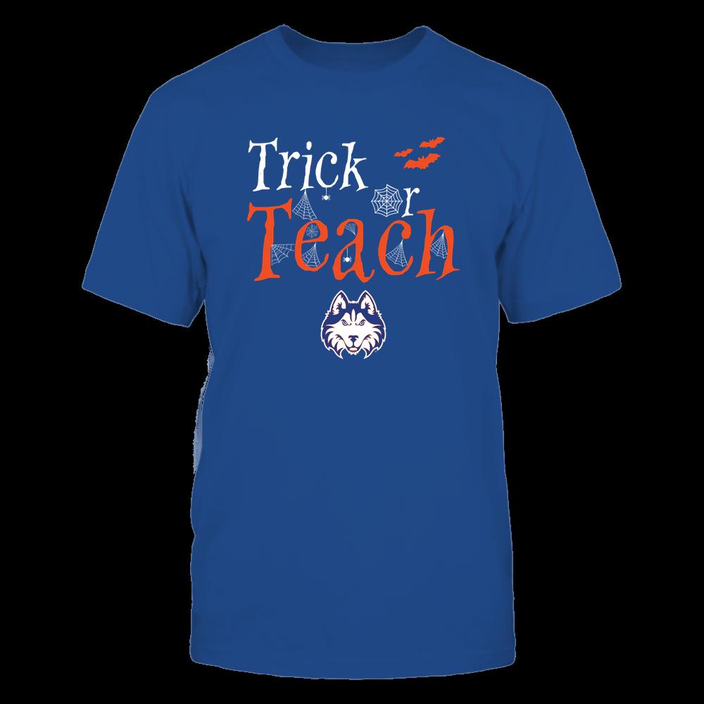 Houston Baptist Huskies - Teacher Halloween - Trick Or Teach - Team Front picture