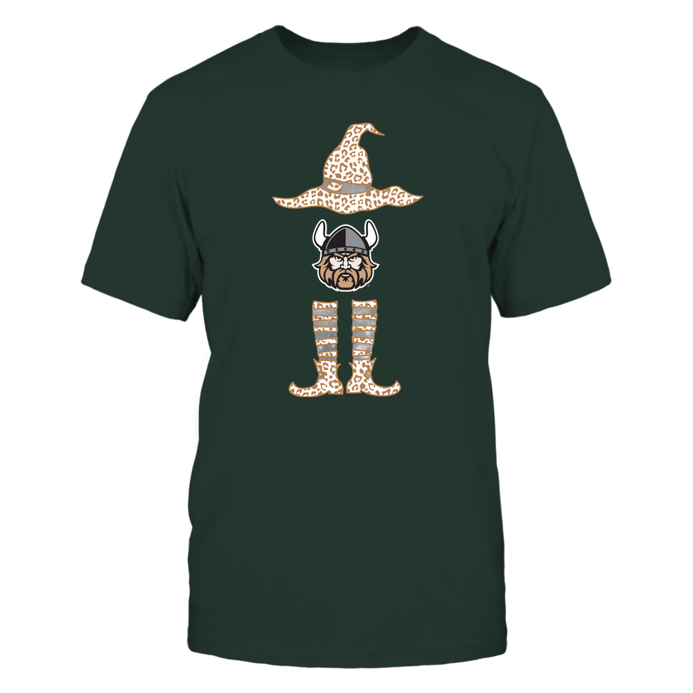 Cleveland State Vikings - Halloween Witch - Leopard Pattern - Team Front picture