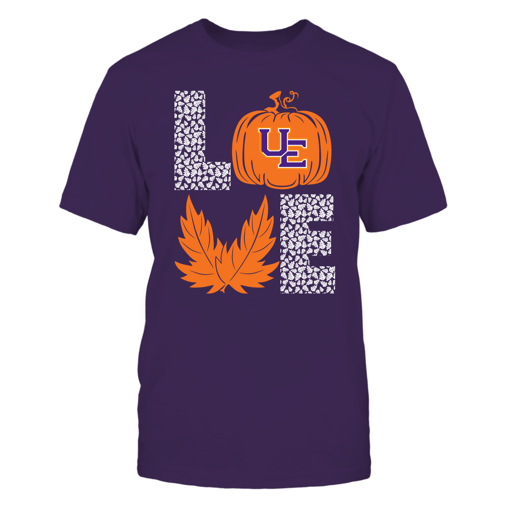Evansville Purple Aces - Stacked Love - Fall - Leaf Pumpkin - Team Front picture
