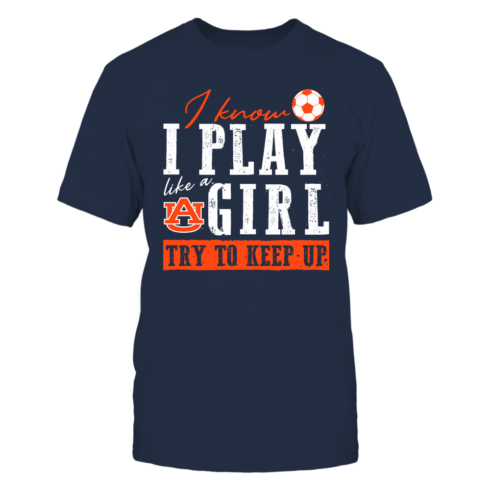 Auburn Tigers - Play Like A Girl - Soccer - Team Front picture