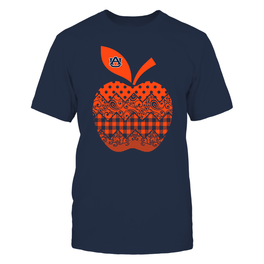 Auburn Tigers - Teacher - Apple Patterned - Team Front picture