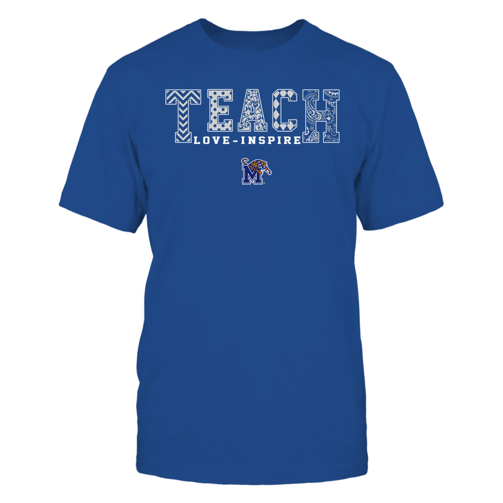 Memphis Tigers - Teach Love Inspire - Slogan Pattern - Team Front picture