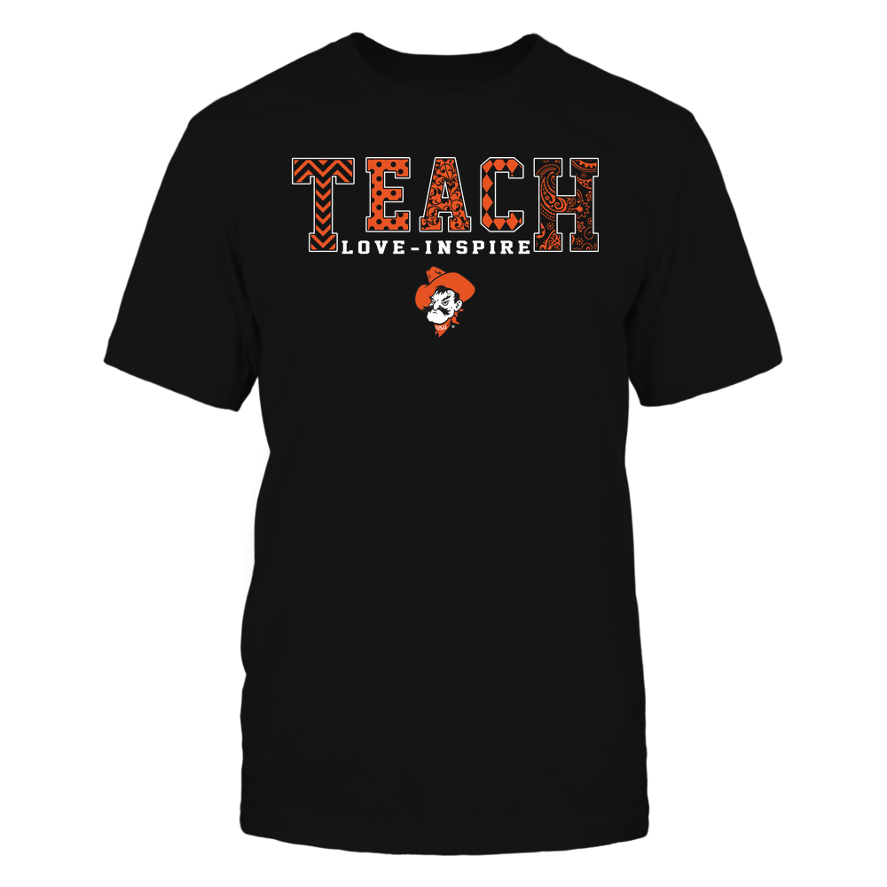 Oklahoma State Cowboys - Teach Love Inspire - Slogan Pattern - Team Front picture
