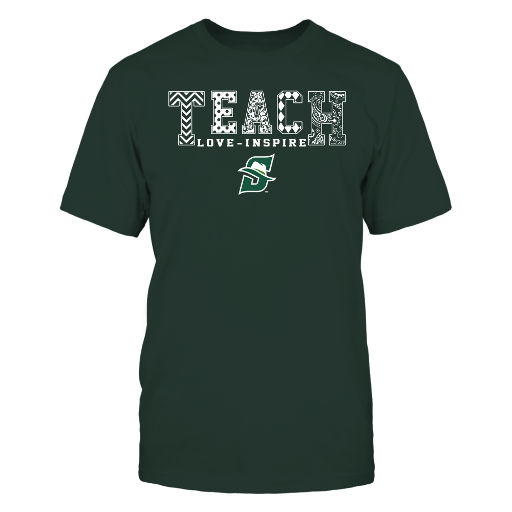 Stetson Hatters - Teach Love Inspire - Slogan Pattern - Team Front picture