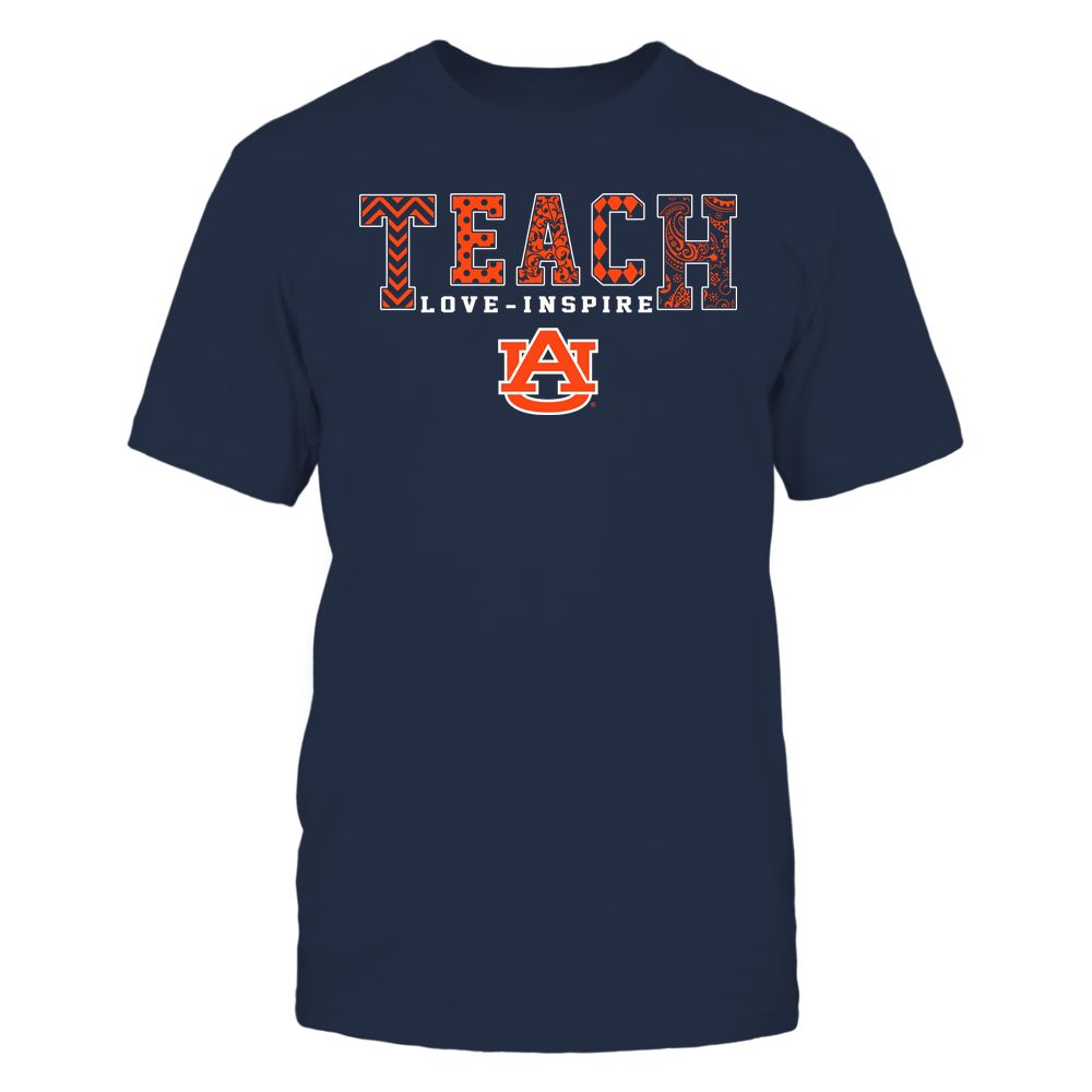 Auburn Tigers - Teach Love Inspire - Slogan Pattern - Team Front picture