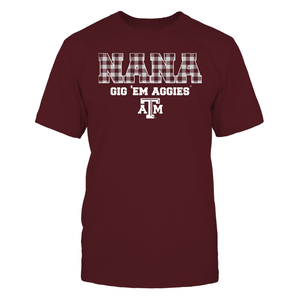 Texas A&M Aggies - Nana - Checkered Pattern - Team Front picture