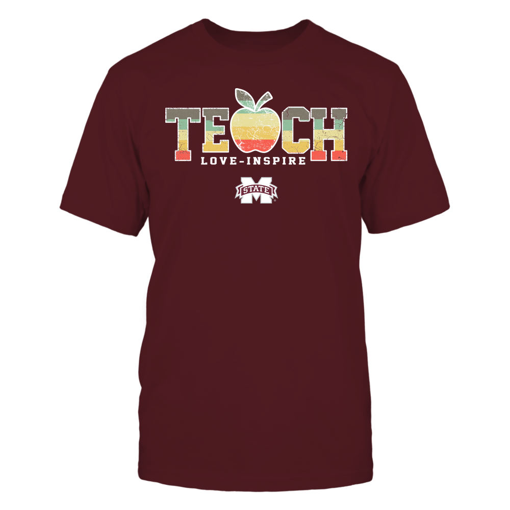 Mississippi State Bulldogs - Teach Love Inspire - Apple Vintage - Team Front picture