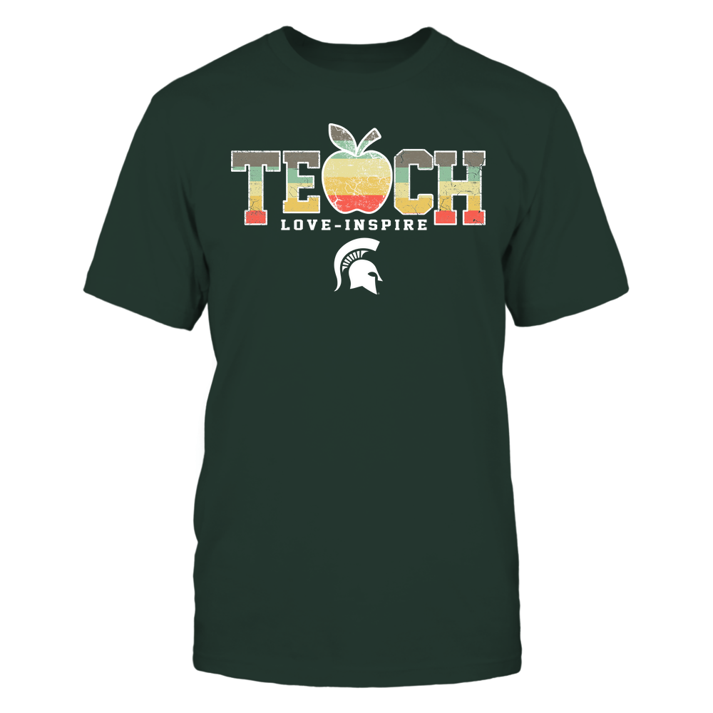 Michigan State Spartans - Teach Love Inspire - Apple Vintage - Team Front picture