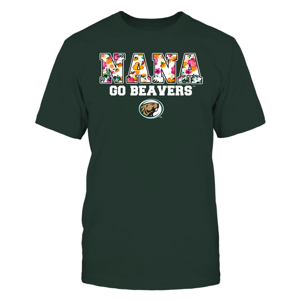 Bemidji State Beavers - Nana - Floral Pattern - Slogan Front picture