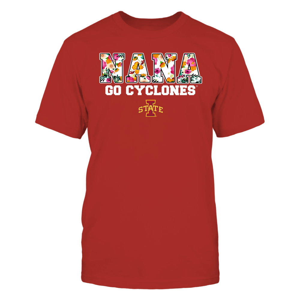 Iowa State Cyclones - Nana - Floral Pattern - Slogan Front picture