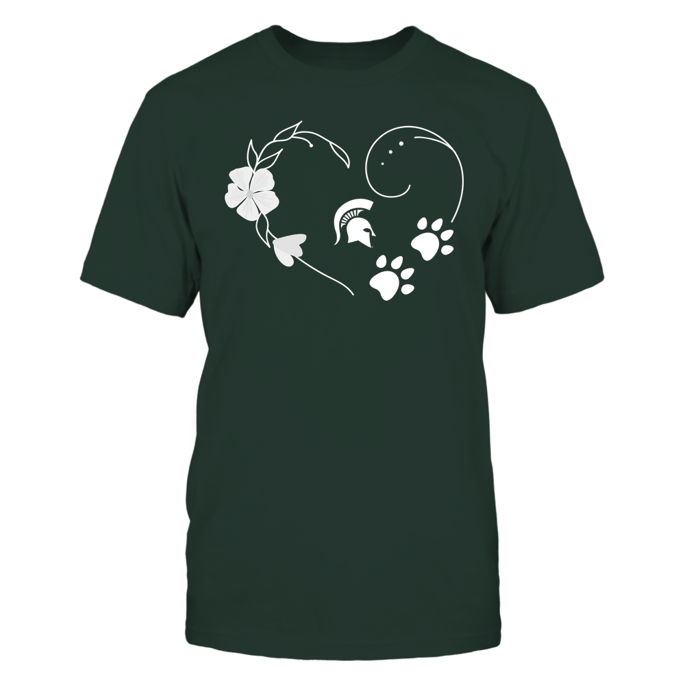 Michigan State Spartans - Flower Heart Paw - Team Front picture