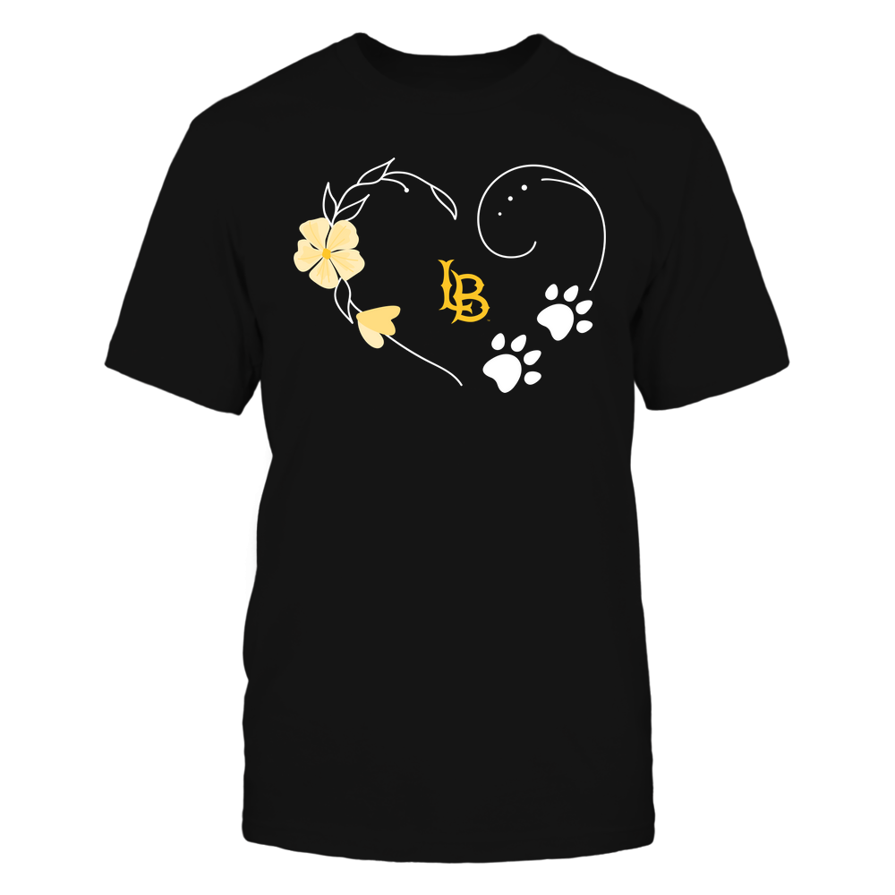 Long Beach State 49ers - Flower Heart Paw - Team Front picture