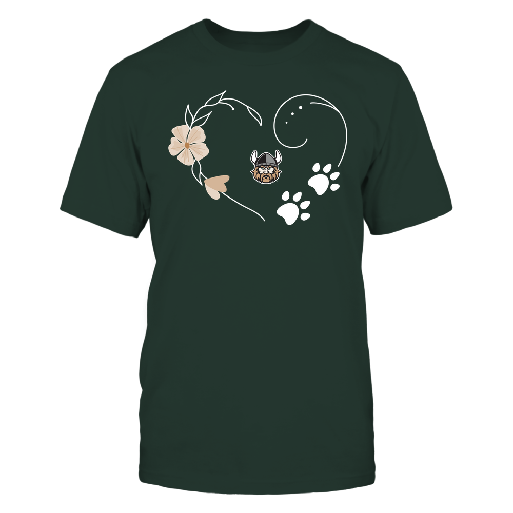 Cleveland State Vikings - Flower Heart Paw - Team Front picture