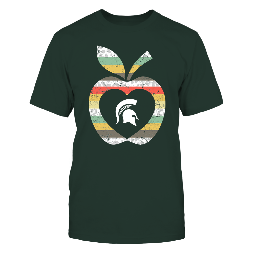 Michigan State Spartans - Teacher - Leopard Vintage Apple - Team Front picture