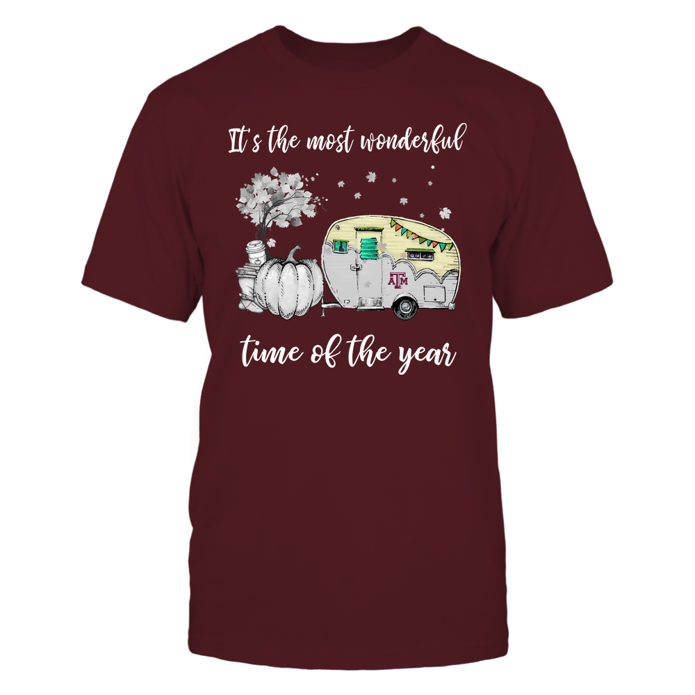 Texas A&M Aggies - Fall - Camper - It's The Most Wonderful Time Front picture
