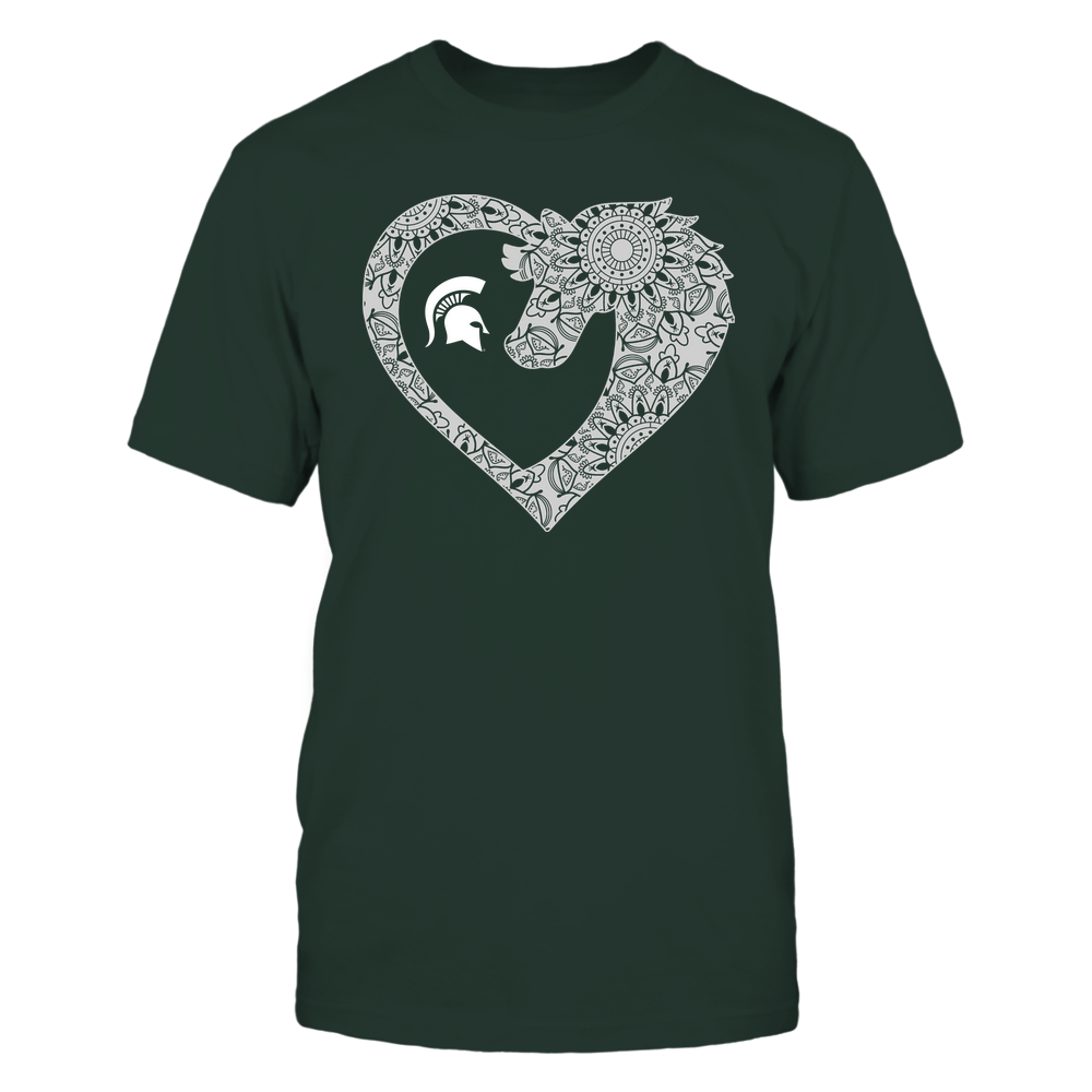 Michigan State Spartans - Horse - Mandala Horse Heart - Team Front picture