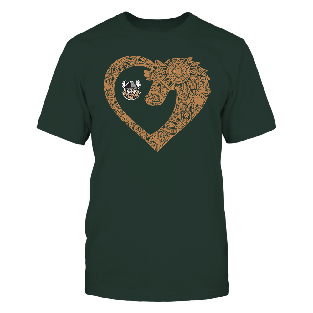 Cleveland State Vikings - Horse - Mandala Horse Heart - Team Front picture