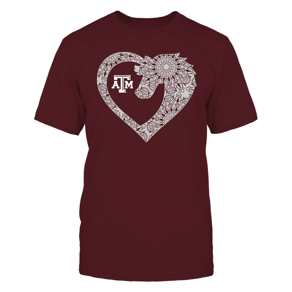 Texas A&M Aggies - Horse - Mandala Horse Heart - Team Front picture