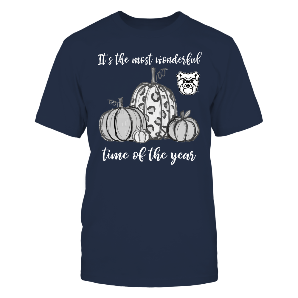Butler Bulldogs - Fall ^ It's The Most Wonderful Time Of The Year - Pumpkins Front picture